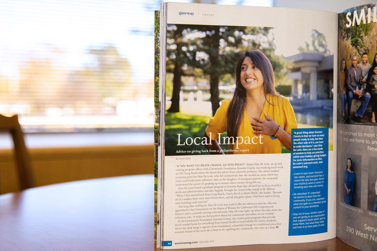 Sonoma Magazine article feature