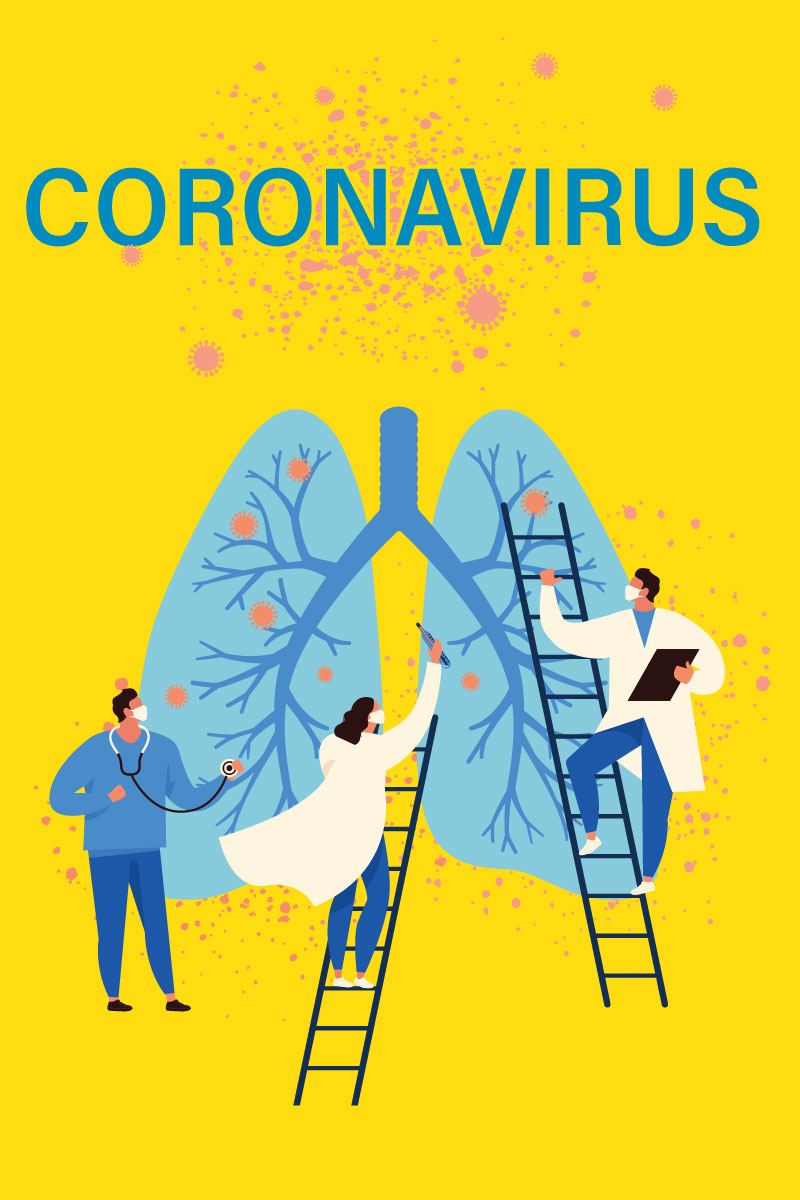 coronavirus illustration doctors