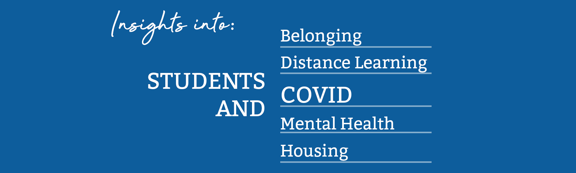 The Sonoma County YouthTruth Survey offers insights into students and belonging, distance learning, covid, mental health, housing