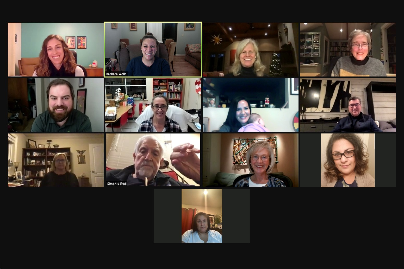 Sonoma Valley Catalyst Fund volunteers meeting via Zoom
