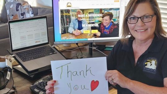 A thank you from Sonoma Valley Mentoring Alliance, who received a grant for new laptops and training